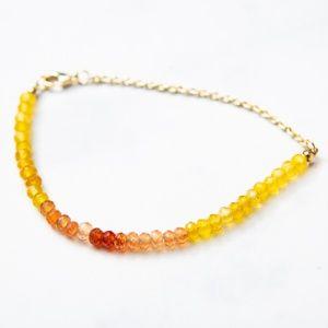 Jewelry - Gradient Jade Gemstone Bracelet